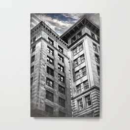 Boston [Sky cut 413] Massachussets, Usa Metal Print