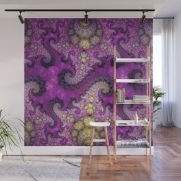 Dragon spirals and orbs in pink, purple and yellow Wall Mural