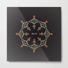 2019 Jeweled Geometry Metal Print