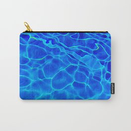Blue Water Abstract Carry-All Pouch