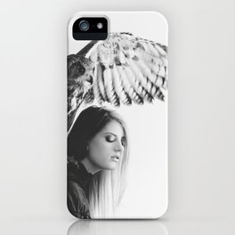 Owl on Woman's Shoulder iPhone Case