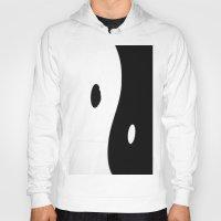 yin yang Hoodies featuring Yin Yang by ArtBite