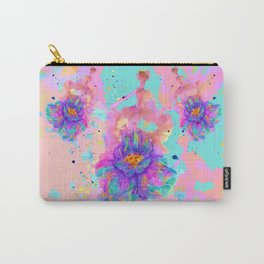 Colorful Watercolor Flower Carry-All Pouch