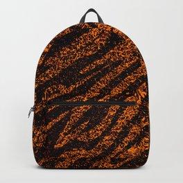 Nature Alive - Tiger Grass Animal Pattern Orange Backpack