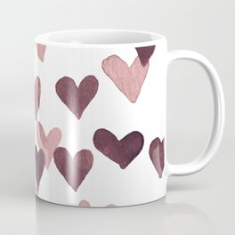 Valentine's Day Watercolor Hearts - dark pink Coffee Mug