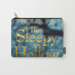 Sleepy Hollow Village Sign Carry-All Pouch