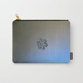 Real snowflake macro photo - Massive silver Carry-All Pouch