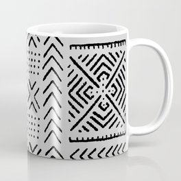 Line Mud Cloth // Light Grey Coffee Mug
