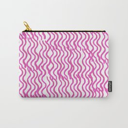 Pink Wavey Carry-All Pouch