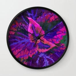 Purple Coleus Plant Wall Clock