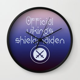Official vikings shieldmaiden Wall Clock