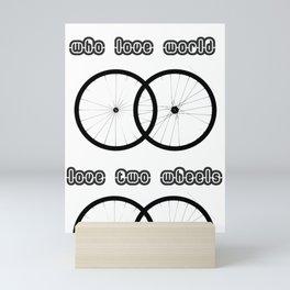 Love two wheels Mini Art Print
