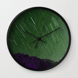 Juniper Skies with Shooting Stars Wall Clock