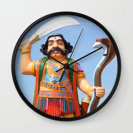 Mahishasura Statue Wall Clock