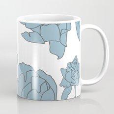 Roses in Blue Coffee Mug