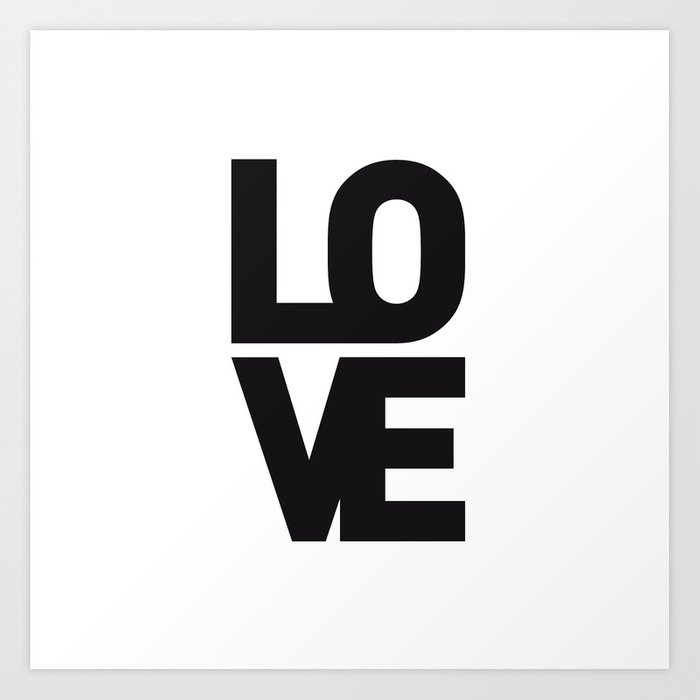 LOVE NO1 Art Print