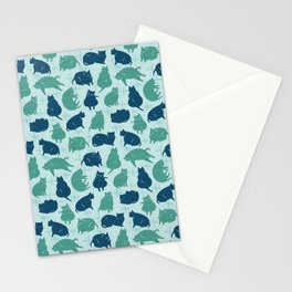 Meowcentury Modern Cats (mint) Stationery Cards