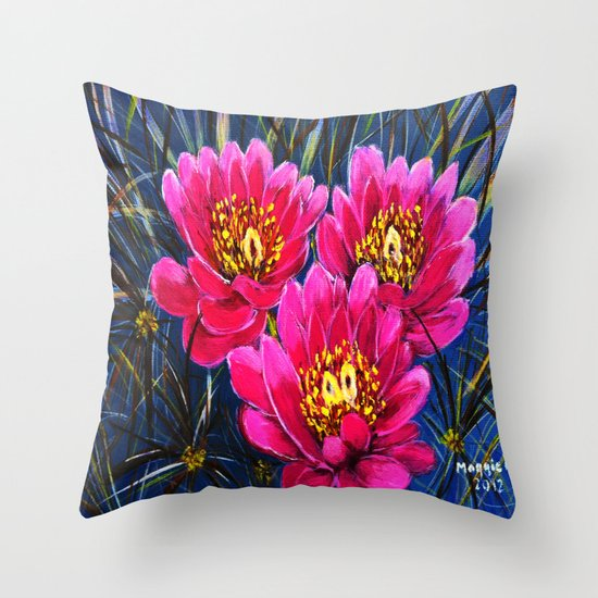 Cactus flowers ( Close up) Throw Pillow