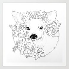 I Deerly Love You Art Print