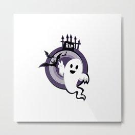 Halloween Ghost Story Metal Print