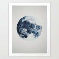 Blueberry Moon Art Print