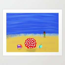Bliss on the Beach! Art Print