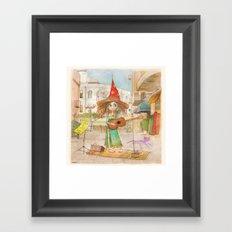 Street Singer Framed Art Print