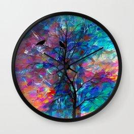 Love Birds Abstract Wall Clock
