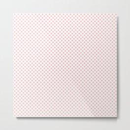 Rose Quartz Polka Dots Metal Print