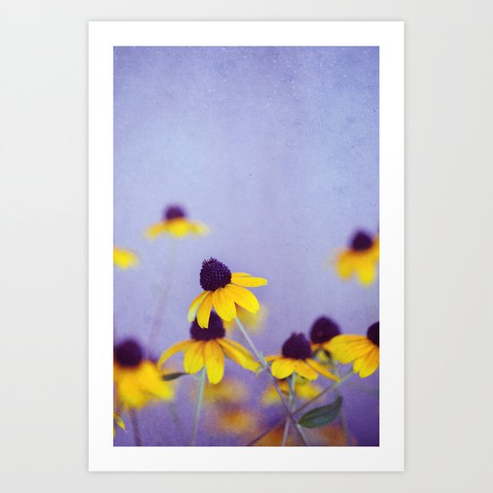 Lilac and Yellow Art Print