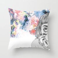 creativity Throw Pillows featuring Creativity by p-antiscians