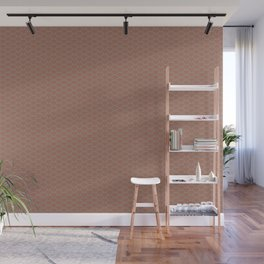 Uniform Wave Scallop Pattern 6 Sherwin Williams Cavern Clay SW 7701 and Slate Violet Gray SW9155 Wall Mural