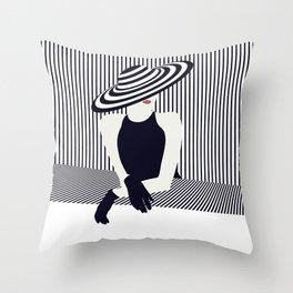 Riviera glamour Throw Pillow