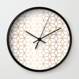 Hive Mind - Rose Gold #113 Wall Clock
