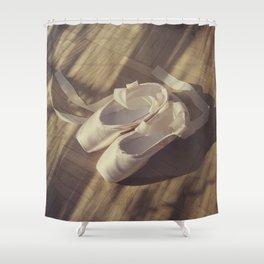Ballet dance shoes Shower Curtain