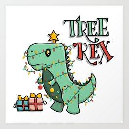 Tree Rex Art Print