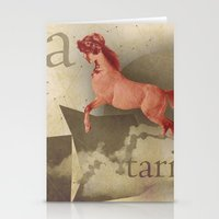 sagittarius Stationery Cards featuring sagittarius by Rosa Picnic