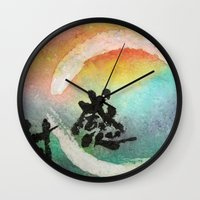 thanksgiving Wall Clocks featuring Thanksgiving by Wakoshi