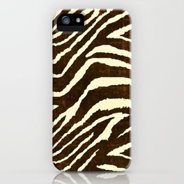 ZEBRA IN WINTER BROWN AND WHITE iPhone Case