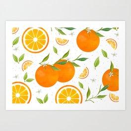 White Clementine Art Print