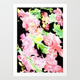 flora series xv in contrast Art Print