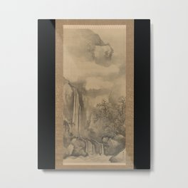 Landscape with Waterfall,1828 Metal Print