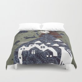 Clouds in May, Time to Play Duvet Cover