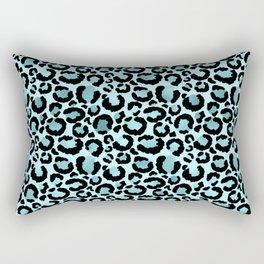 Light Blue Leopard Print  Rectangular Pillow
