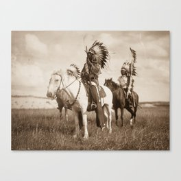 Sioux chiefs by Edward S Curtis 1905 Canvas Print