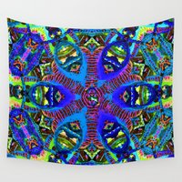 acid Wall Tapestries featuring Acid Kaleido by RAMALAMA