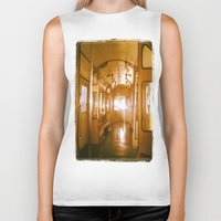 train Biker Tanks featuring Train  by Raquel Belloch