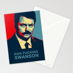 Ron F***ing Swanson Stationery Cards