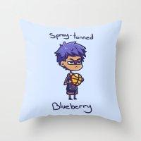 kuroko Throw Pillows featuring Aomine knb by HeliPeach