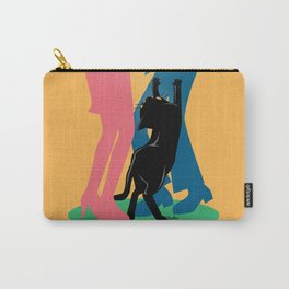 People and cat Carry-All Pouch
